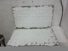 """2 Antique Victorian Detailed Embossed Tin Ceiling Tiles 14 """" x 24"""""""