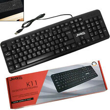 USB WIRED STYLISH SLIM QWERTY KEYBOARD UK LAYOUT FOR PC DESKTOP COMPUTER LAPTOP