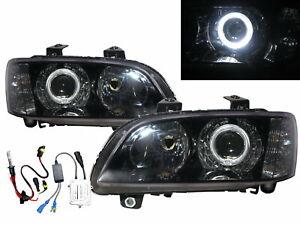 G8 08-09 4D Guide LED Angel-Eye Projector HID Headlight Black for PONTIAC LHD