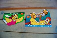 Vintage McDonald's Birdie & Ronald McDonald Stickers - Unused Lot of 2 Scrapbook