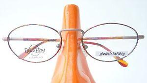 Ovale Metall Brille Brillengestell Fassung Kunststoffbügeln bunt Klassiker Gr M