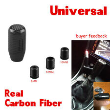 Universal New Real Carbon Fiber Car Auto Gear Shift Knob Shifter Straight Black