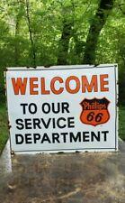 PHILLIPS 66 MOTOR OIL porcelain metal sign gasoline enamel gas pump plate garage