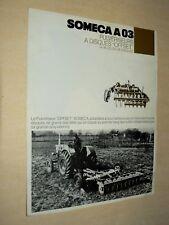 Prospectus Tracteur SOMECA  Pulvérisateur 03  Trattori Prospekt traktor brochure