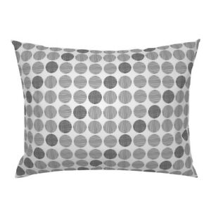 Black Dots Basic Pattern Classic Circles Diagonal Pillow Sham by Roostery