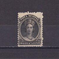 CANADA NOVA SCOTIA 1860, SG# 17, CV £38, Yellowish paper, MNH