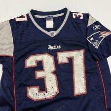 Rodney Harrison New England Patriots Jersey Boys M Blue NFL Football 37