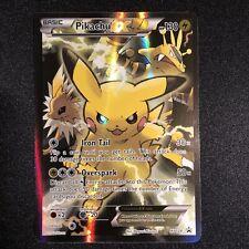 Pokemon Pikachu EX XY124 Black Star Promo Full Art LP/NM Condition