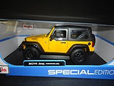 Maisto Jeep Wrangler 2014 Yellow 1/18