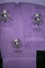 Nightmare Christmas Jack Web Personalized  3 Piece Bath Towel Set