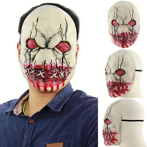 Zombie Horror Mask Game Latex Creepy Face Halloween Cosplay Costume Party Props