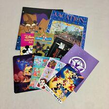 Vintage Disney Vacation Guide Brochures Postcards Stickers Lot