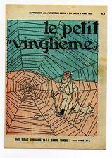 Carte Postale Tintin. Le Petit Vingtième n° du 2 mars 1933.