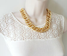 "Gorgeous 20"" long gold tone chunky link chain necklace  ** SALE **"