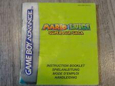 NOTICE MANUEL MARIO LUIGI SUPERSTAR SAGA GAME BOY GAMEBOY ADVANCE GBA (NFHUG)
