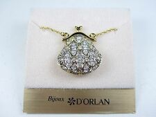 "Swarovski Crystals - 24-26"" Length 0810 D'Orlan Gold Plated Handbag Pendant with"
