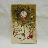 POSTCARD EMBOSSED ''MAY YOURS BE A JOYFUL NEW YEAR'' POSTMARKED 1910