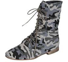 Flache Camouflage Stiefel für Damen