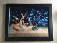 "1971 Topps Thurman Munson Framed Photo (33""x26"" +BONUS!)"