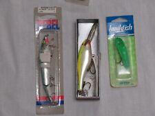 3 NEW FISHING LURES RAPALA SHAD RAP, REBEL MINNOW JOINTD, KWIKFISH NIP