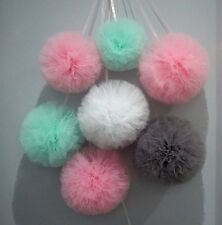 Tulle Pompoms wall decoration set of 7- Wedding,Baby Shower, Birthday - Venabell