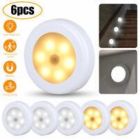 LED Motion Sensor Night Light Under Cabinet Lighting Wireless Battery Power Lamp
