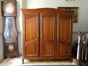 French Louis XVI Armoire, Triple Door Wardrobe