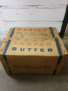 Vintage Danish Butter Cardboard Box. 1962