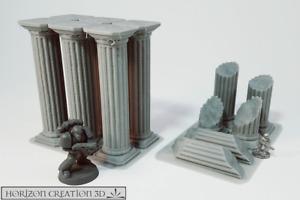 HC3D -Terra Terrain Pillar Columns- Wargames Miniatures Scenery 40k 28m 15mm