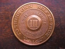 Alcoholics Anonymous 3 Year AA Bronze Medallion Coin Token Chip Sobriety Sober