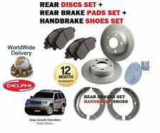 FOR JEEP GRAND CHEROKEE WJ WG 1998-2004 REAR BRAKE DISCS SET + PADS KIT + SHOES
