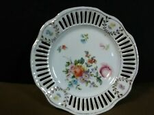 Antique Retsch & Co. Bavaria Porcelain Gold Floral Reticulated Plate,Germany