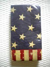 20 Count 2 Ply Paper Guest Towels Napkins PATRIOTIC PIZAZZ FLAG Theme Creatv con