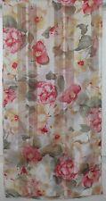 TERRIART Pink, Green, Yellow, Cream Flowers Sheer 58x14 Long Scarf-Vintage