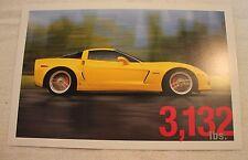 2006 Corvette Z06 Sales One Sheet (brochure)