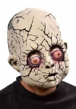 Cracked Baby Doll Face Creepy Zombie Scary Gothic Adult Halloween Latex Mask