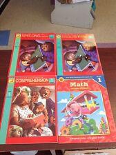Lot of 4 BRIGHTER CHILD WORKBOOK Grade 1 Spelling Reading Math Basic Skills