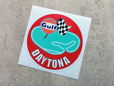 Gulf Daytona racing circuit sticker 75 mm  - Gulf Licensed Merchandise