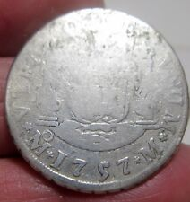 1757 (MEXICO) 2 REALES (SILVER) --COLONIES ---- PILLAR DOLLAR--