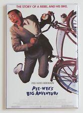 Pee Wee's Big Adventure FRIDGE MAGNET (2 x 3 inches) movie poster pee wee herman