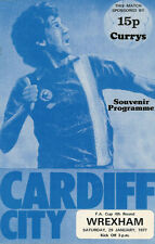 Cardiff City v Wrexham 29 Jan 1977 FA Cup - 4th round Football Programme