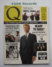 Q MAGAZINE - Issue 33 June 1989 - David Bowie / Deacon Blue / Simple Minds