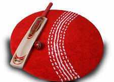 football rug red cricket ball