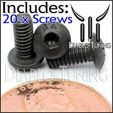 "#5-40 x 5/16"" - Qty 20 - BUTTON HEAD Socket Cap Screws  Alloy Steel Black Oxide"