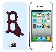 Boston Baseball Pattern Hard Back Case Cover for iPhone 4/4s
