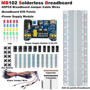 MB-102 Solderless Breadboard Protoboard 830 contacts Socket PCB Test Circuit kit