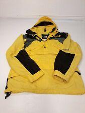 North Face Extreme Gear Pull Over VTG 1990's Solar Yellow Retro Ski sz Small uni
