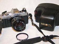 MINOLTA X-370 X370 35mm SLR CAMERA w/MINOLTA MD 50mm 1:1.7 LENS