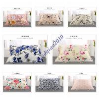 100% Mulberry Silk Pillow Towel Floral Pillow Cover Soft PIllowcase 75*50CM New