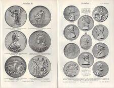 Lithografien 1906: Medaillen I-VI. Plaketten Matteo de Pastis Sigismund Pandolfo